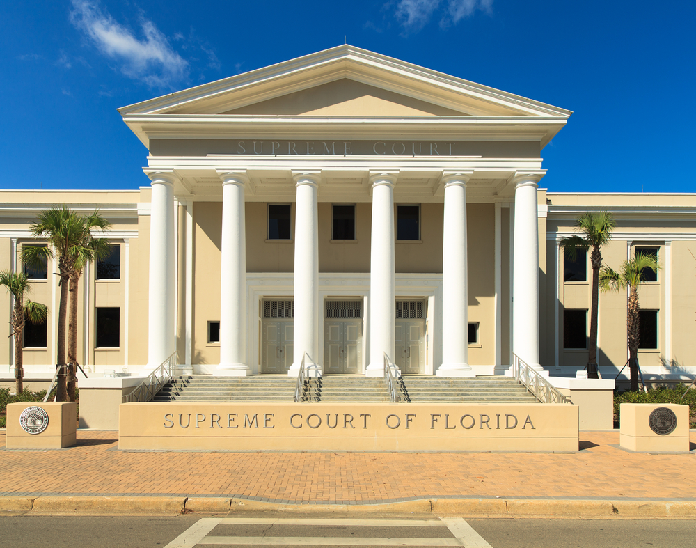 front of the Supreme Court of Florida building