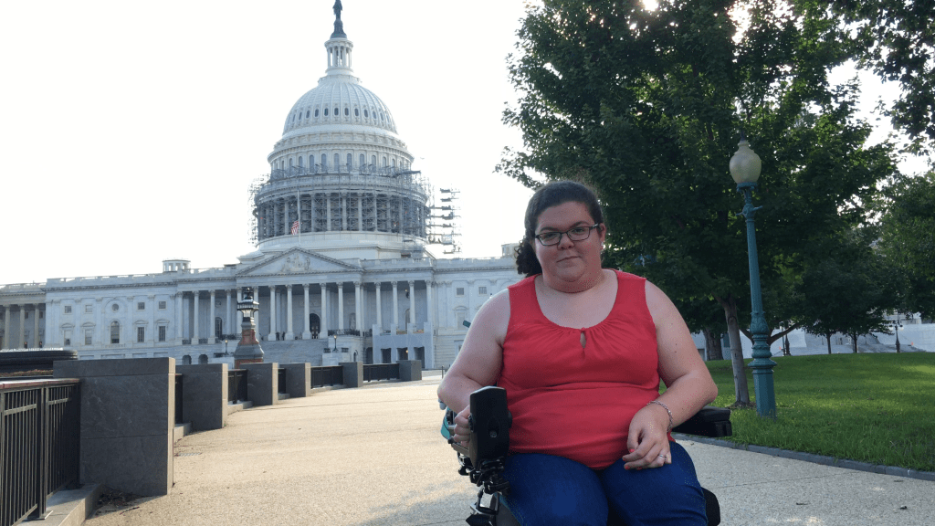 Emily in front of the Capitol in Washington, D.C.